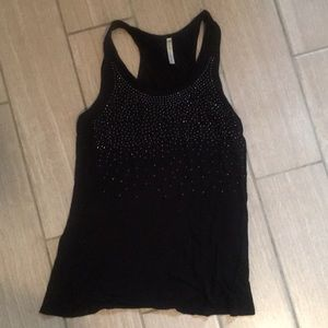 Tops - Black sparkly racer back! Free with purchase!